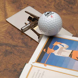 Mirror Finish Paper Clip with Golf Ball