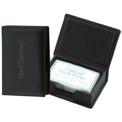 Personalized Leather Business Card Case Holder