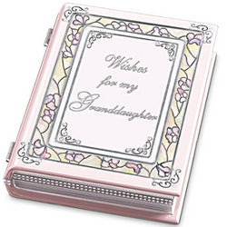 Wishes For My Granddaughter Porcelain Music Box