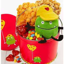 Valentine Monster Fun Pail with Snacks