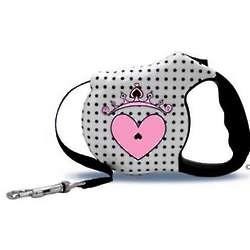 Avant Garde Couture Princess Retractable Dog Leash