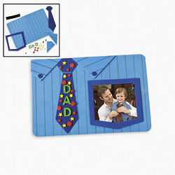 Dad's Shirt and Tie Photo Frame Magnet Craft Kit