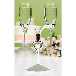 Raindrop Flutes with Silver Holder