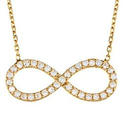 Cubic Zirconia Infinity Design Necklace