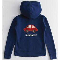 Kid's Hoodie with Red Car Patch