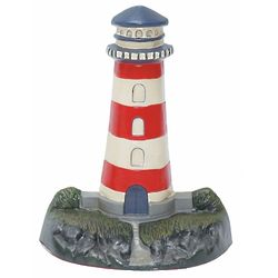 Red and White Striped Lighthouse Door Stop