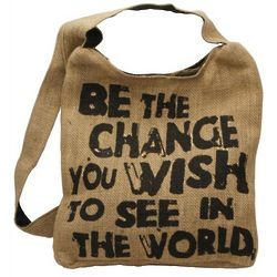 Be the Change Hemp Sling Bag