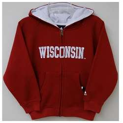 Boy's Wisconsin Badgers Full Zip Sportsman Hoodie