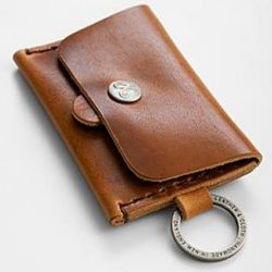 Corter Leather Standard Card Snap Front Wallet