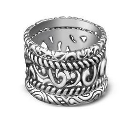 Silver Rodeo Stacking Ring Set
