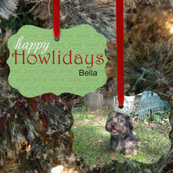Personalized Happy Howlidays Pet Photo Ornament
