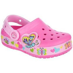 Girl's Crocslights Butterfly Clogs