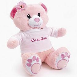 Personalized Pink Plush Bear