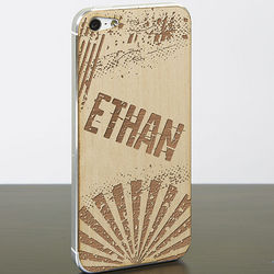 Personalized iPhone 5 Cell Phone Wood Skin
