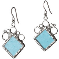 Rhombus Stained Glass Earrings