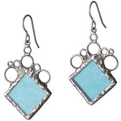 Rhombus Stained Glass Earrings