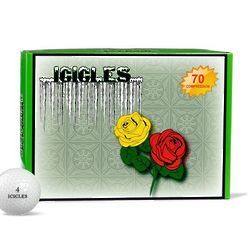 Red and Yellow Roses Golf Balls