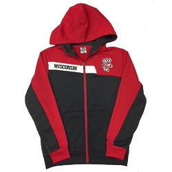 Youth's Bucky Badger Full Zip Hoodie