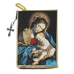 Madonna & Child Rosary Pouch