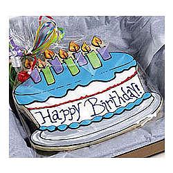 Blue Birthday Cookie