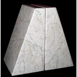 Beige Triangular Marble Bookends