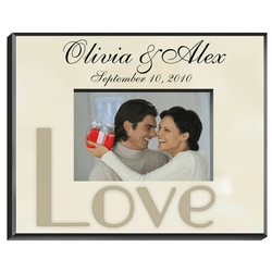 Personalized Parchment Photo Frame