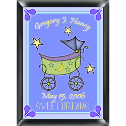 Personalized Carriage Room Sign in Blue