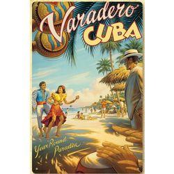 Veradero Cuba Metal Print Sign