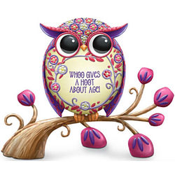 Whoo Gives A Hoot About Age Owl Figurine