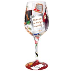 Hand-Painted Chef's Wine Glass