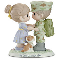 Precious Moments My Love Goes With You Marine Figurine