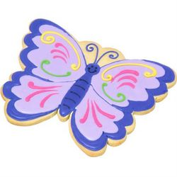 Decorated Butterfly Giant Shortbread Cookie