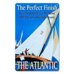 Vintage Metal Sail the Atlantic Sign