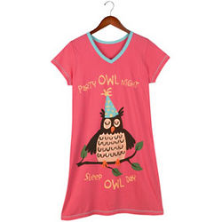 Cotton Party Owl Sleepshirt