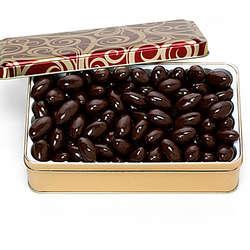 Dark Chocolate Covered Almonds Gift Tin