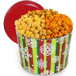 Holiday Traditional 1 Gallon Popcorn Tin