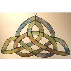 Stained Glass Multi-Colored Trinity Suncatcher