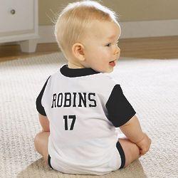 Baby Boy's Personalized Sports Jersey Bodysuit