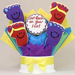 Get Back On Your Feet 5 Piece Cookie Bouquet