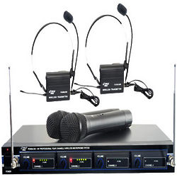 4-Microphone VHF Wireless System