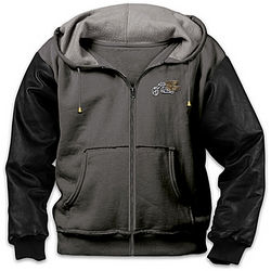 Freedom Rider Men's Hooded Biker Jacket