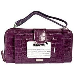 Purple Double-Wide Cell Phone Accordion Wallet