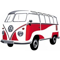 Volkswagen Bus Wall Decal