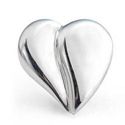 Sterling Silver Loving Heart Pin