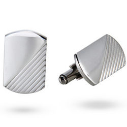 Men's Stainless Steel Engravable Classic Style Cufflinks
