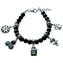 Casino Charm Bracelet in Silver