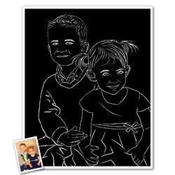 Custom Black & White Abstract 8x10 Art Print from Photos