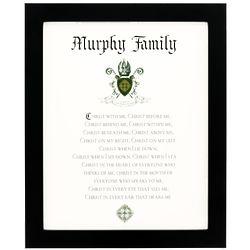 Personalized Family Name Saint Patrick's Breastplate Art Print