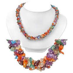 Multi Color Gemstone Majestic Necklace