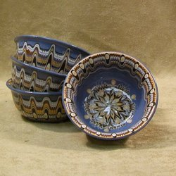 Sand Art Ceramic Bowl